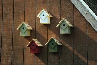 Summer Home Birdhouse Set Natura Colors Product Photo