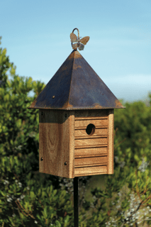 Birdhouse Mahogany Copper Roof Product Photo