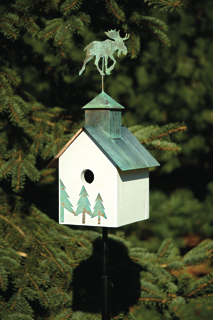 Birdhouse White Verdi Copper Roof Product Photo