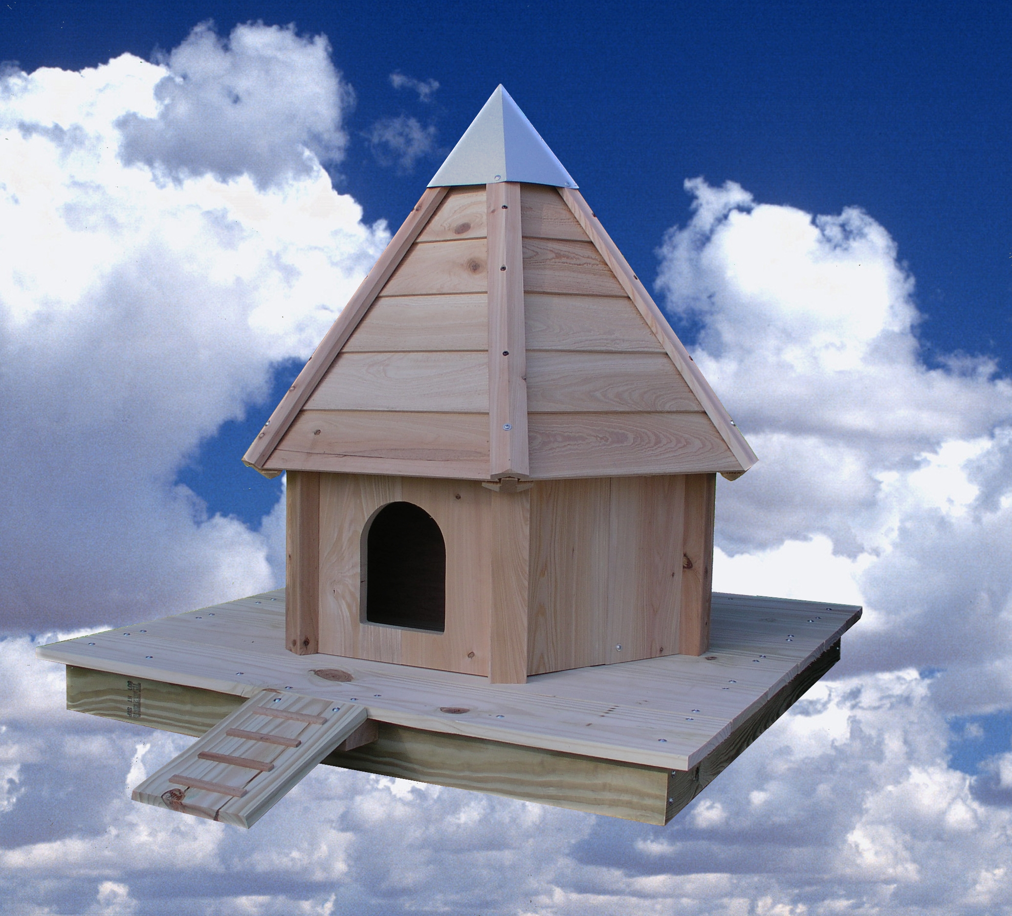 Birdhouse Wooden Roof Product Photo