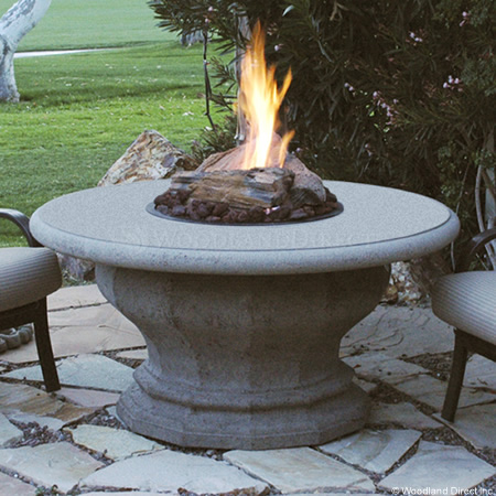 Inverted Round Fire Pit Table Top Pic