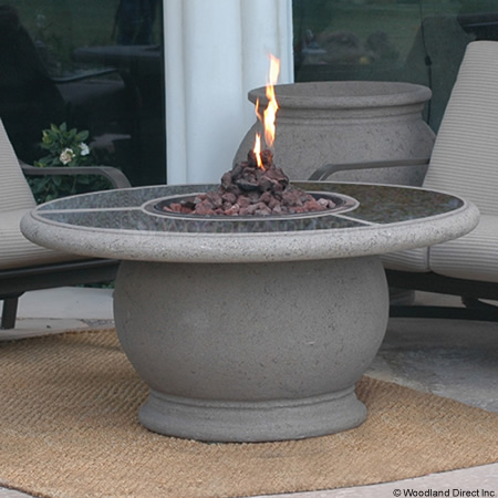 Round Fire Pit Table Granite Top Product Photo