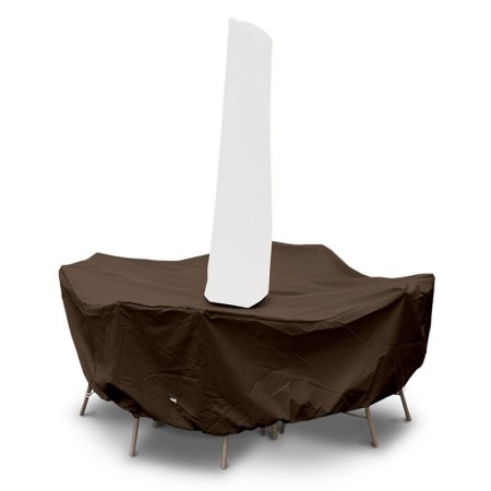 Dining Set Round Cover Umbrella Chocolate Product Photo