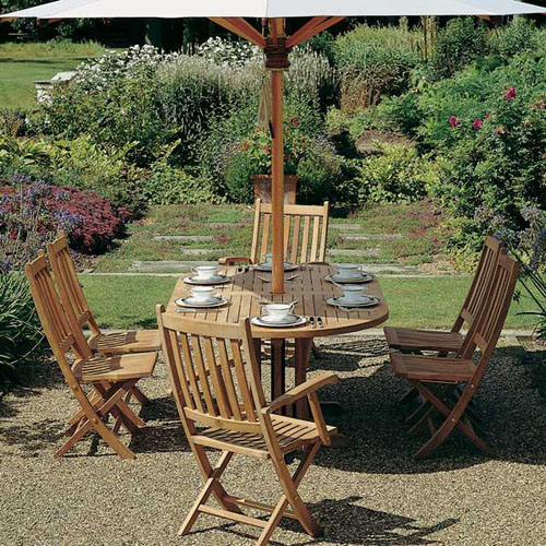 Teak Folding Dining Side Chair Product Photo