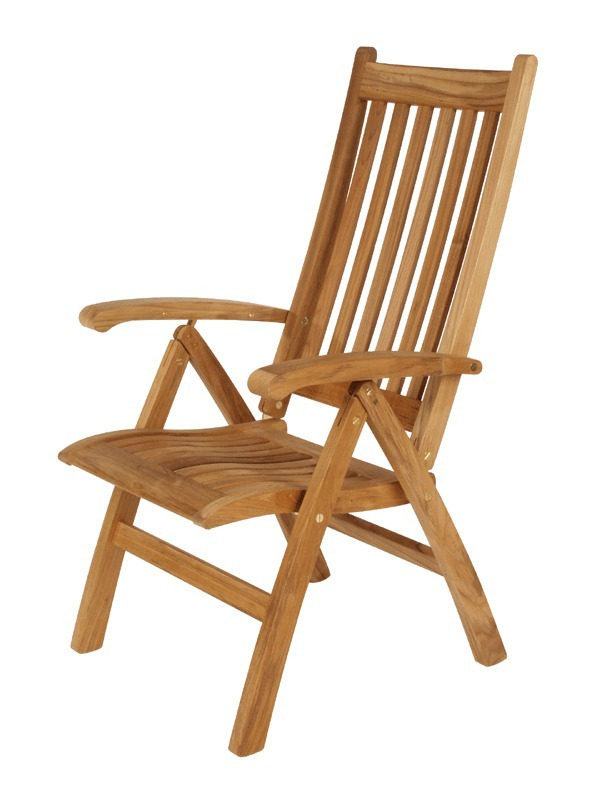Teak Highbacked Reclining Chair Product Photo