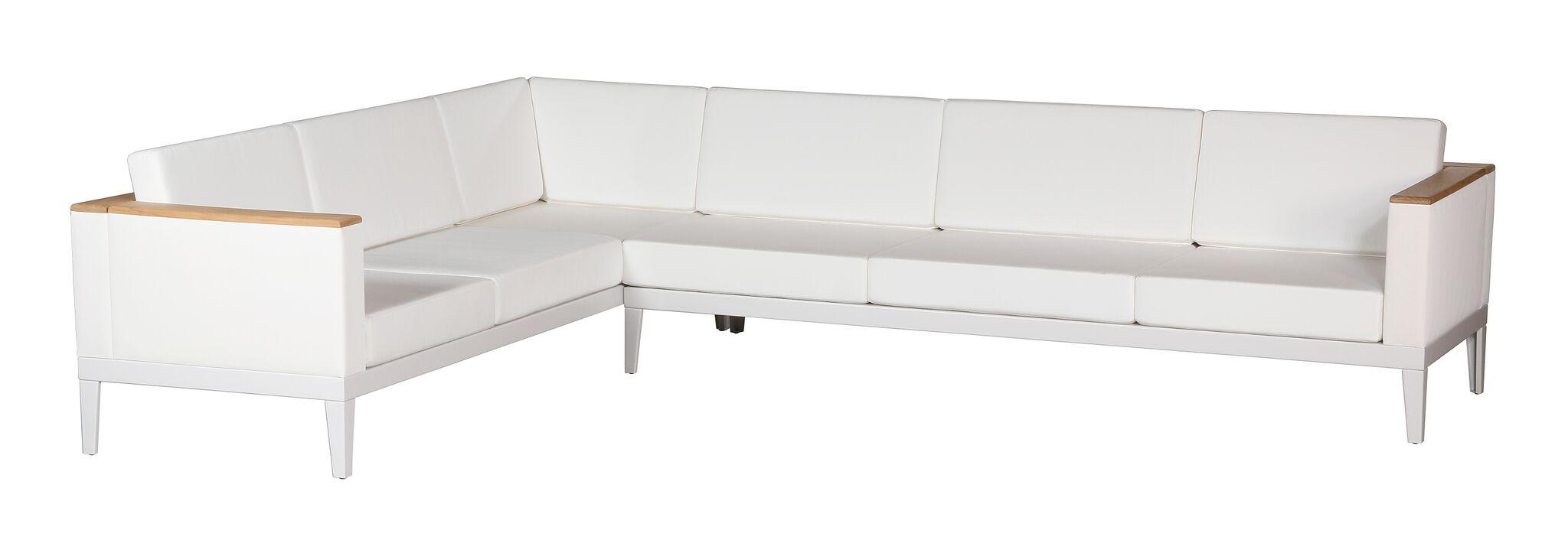 Barlow Tyrie Aura Deep Seating Six Seater Corner Sectional Set