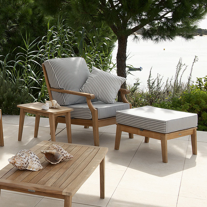 Barlow Tyrie Chesapeake Teak Deep Seating Ottoman