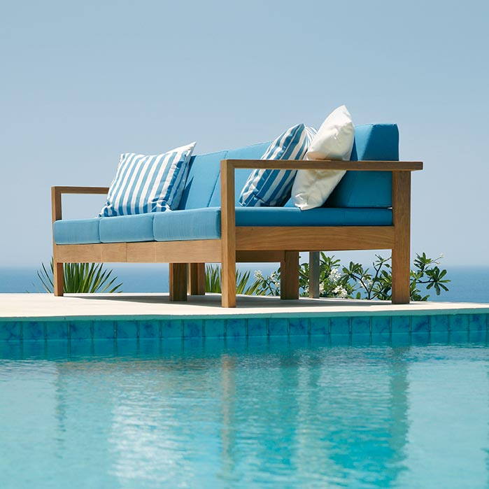 Deep Seating Teak Seater Sofa Product Photo