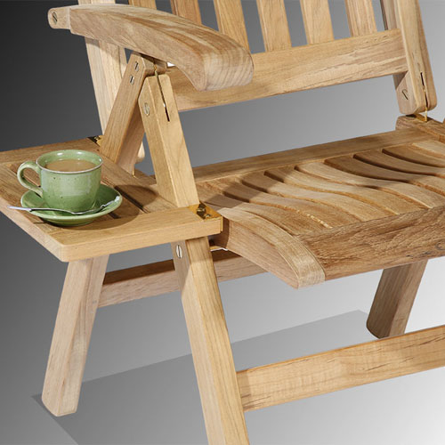 Barlow Tyrie Ascot Teak Recliner Clip on Tray