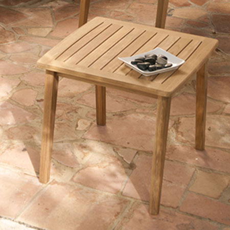Barlow Tyrie Chesapeake Teak 24 Square Side Table