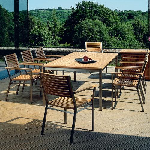 Teak Retangular Dining Table Pic