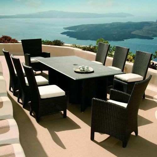 Savannah Wicker Rectangular Dining Table Product Photo