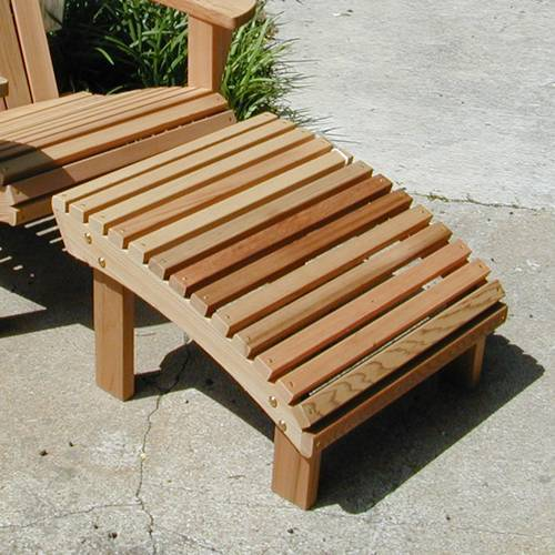Adirondack Teak Ottoman Footrest Product Photo