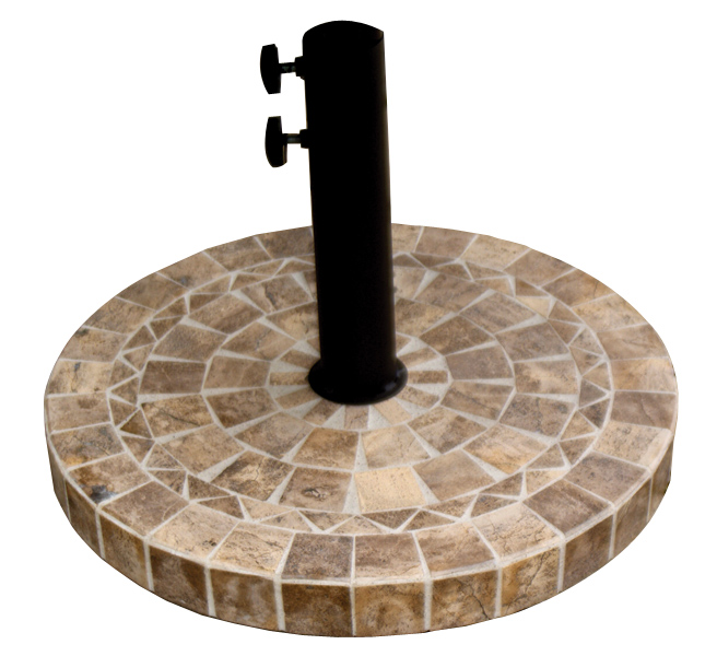 Umbrella Base Brown Marble Product Photo