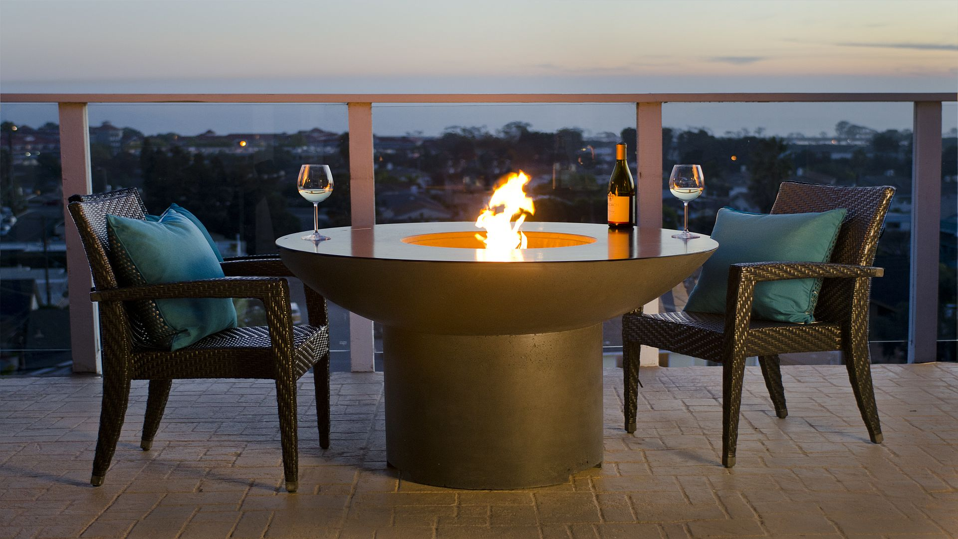 Dining Fire Pit Table Product Photo