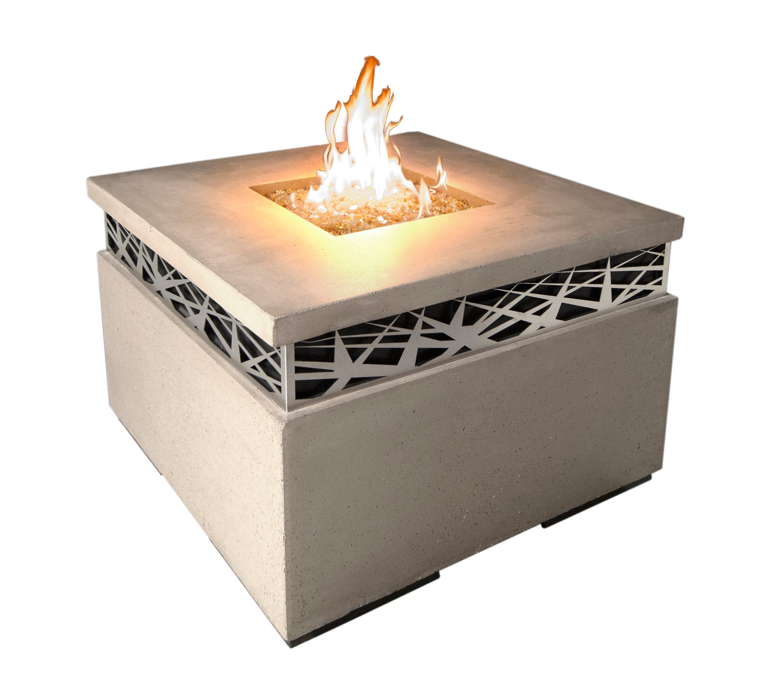 Square Fire Pit Table Product Photo