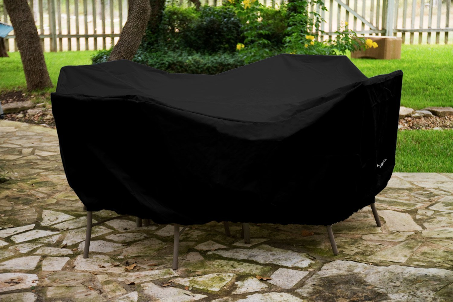 Round Table Dining Set Cover Black Product Photo