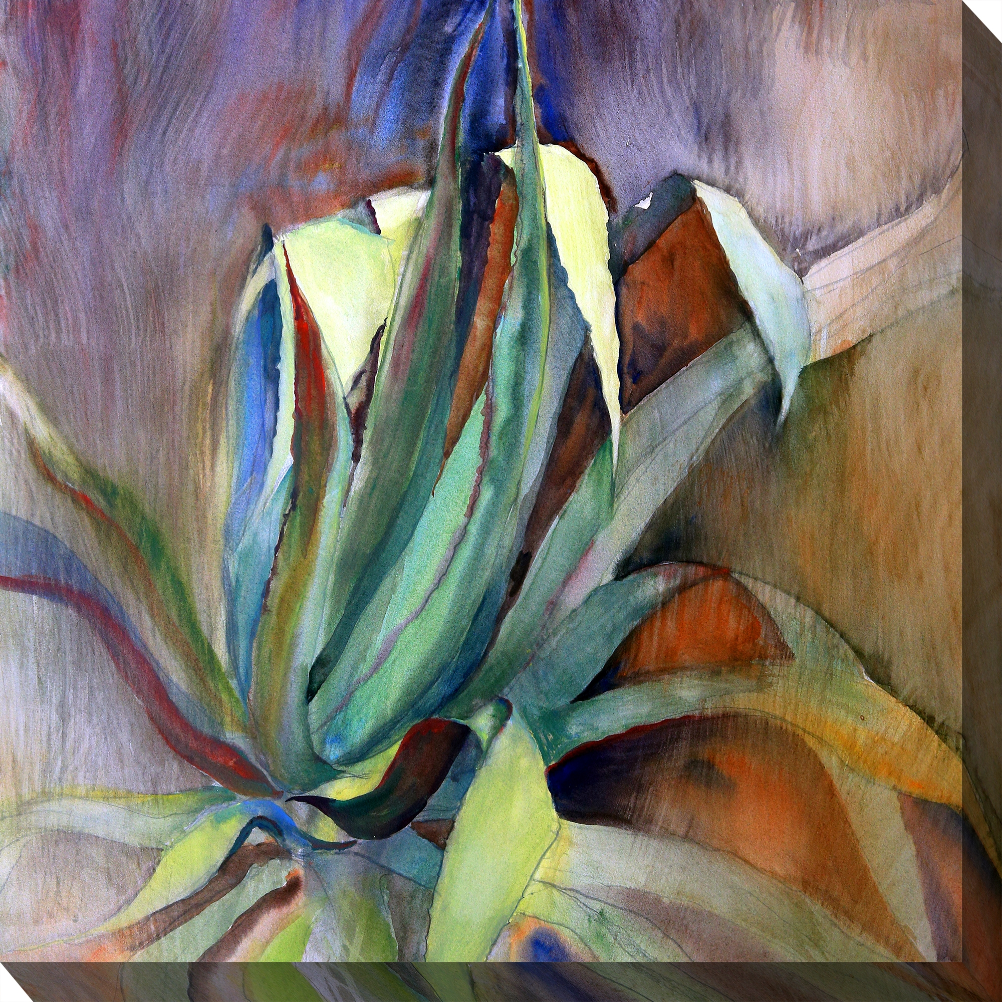 Canvas Wall Art Aloe Watercolor Product Photo