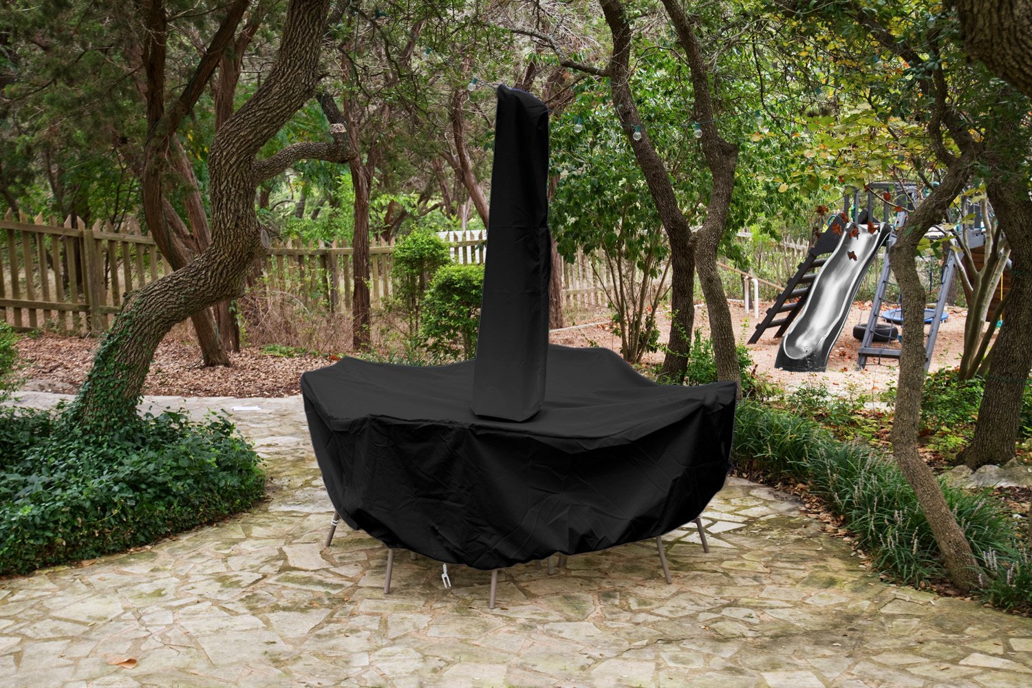 Dining Set Cover Umbrella Black Product Photo