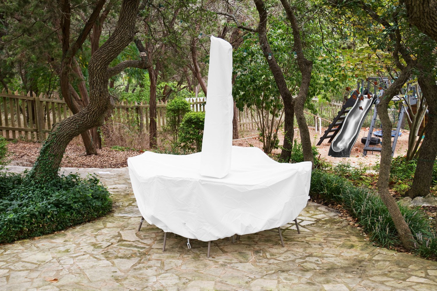 Dining Set Cover Umbrella White Product Photo