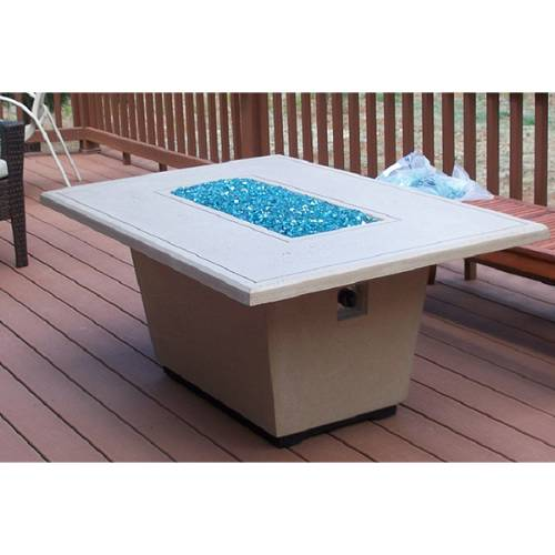 Rectangle Fire Pit Table Wood Pic