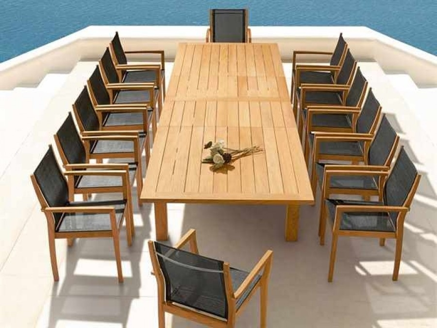Barlow Tyrie Apex and Horizon 15 Pc Dining Ensemble