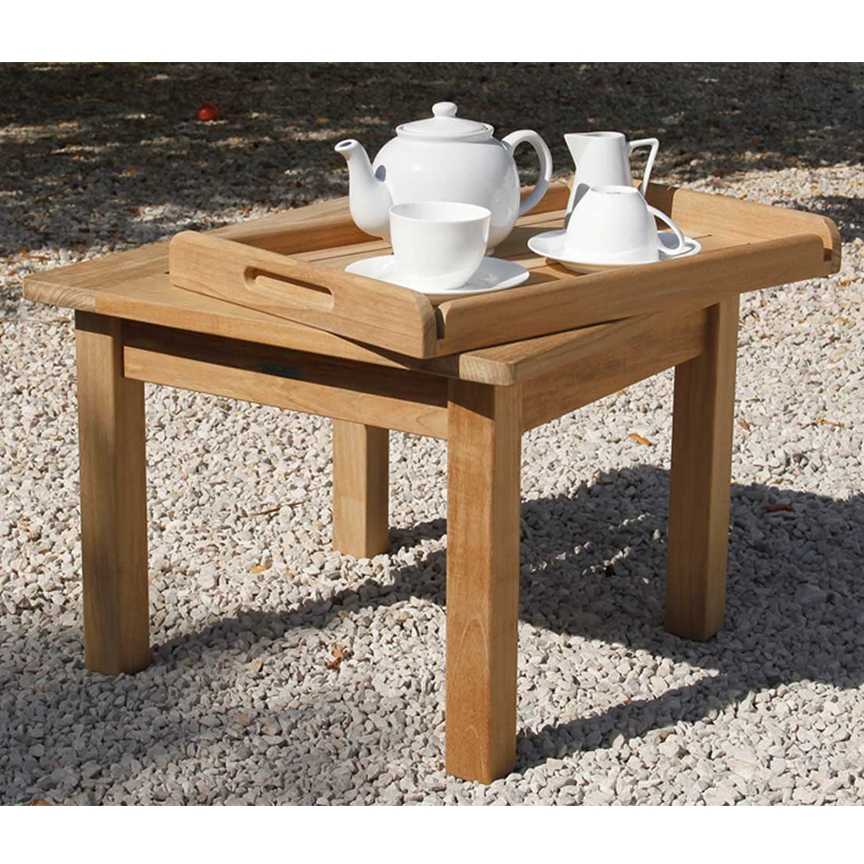 Teak Square Low Coffee Table Pic