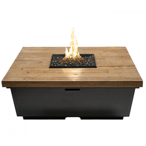 Square Firetable Wood Pic