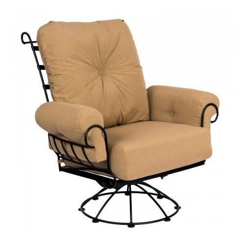 Magnificent Woodard Terrace Wrought Iron Swivel Rocking Lounge Chair Bralicious Painted Fabric Chair Ideas Braliciousco