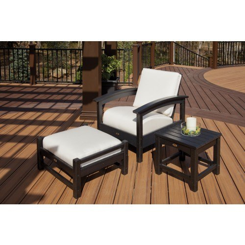 Trex Outdoor Furniture 3 Piece Rockport Seating Ensemble