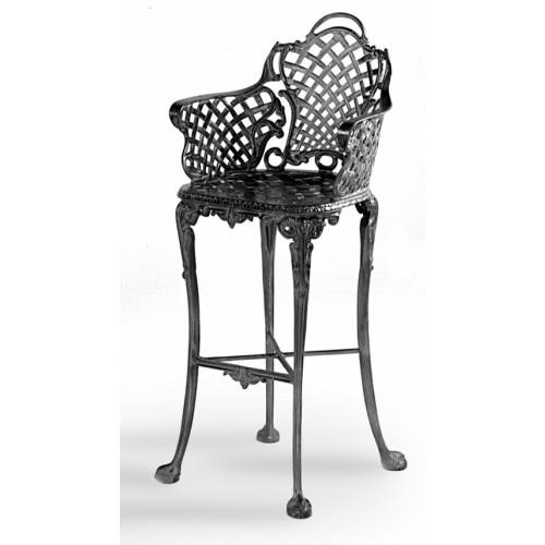 Three Coins Cast Basketweave Cast Aluminum Barstool By Three Coins Cast