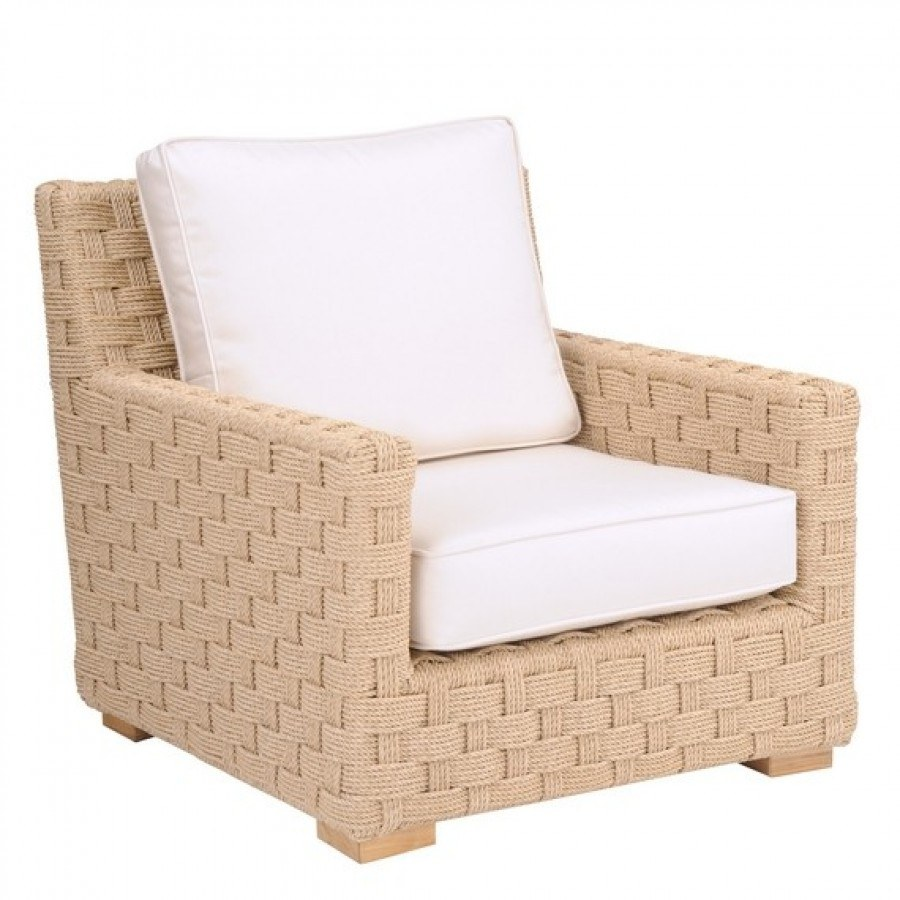 Kingsley Bate St. Barts Wicker and Tuscany Teak 5 Piece Deep Seating Ensemble with Sofa  by Kingsley Bate