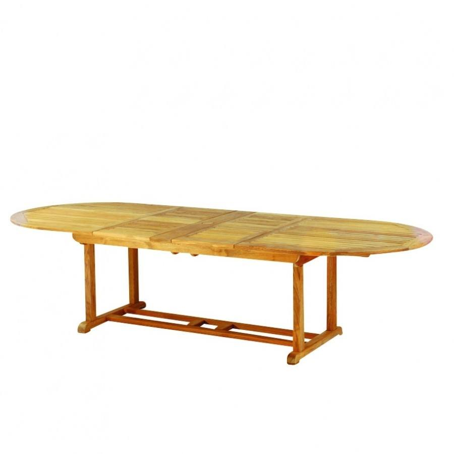 Kingsley Bate Essex Teak 80-114 Oval Extension Dining Table