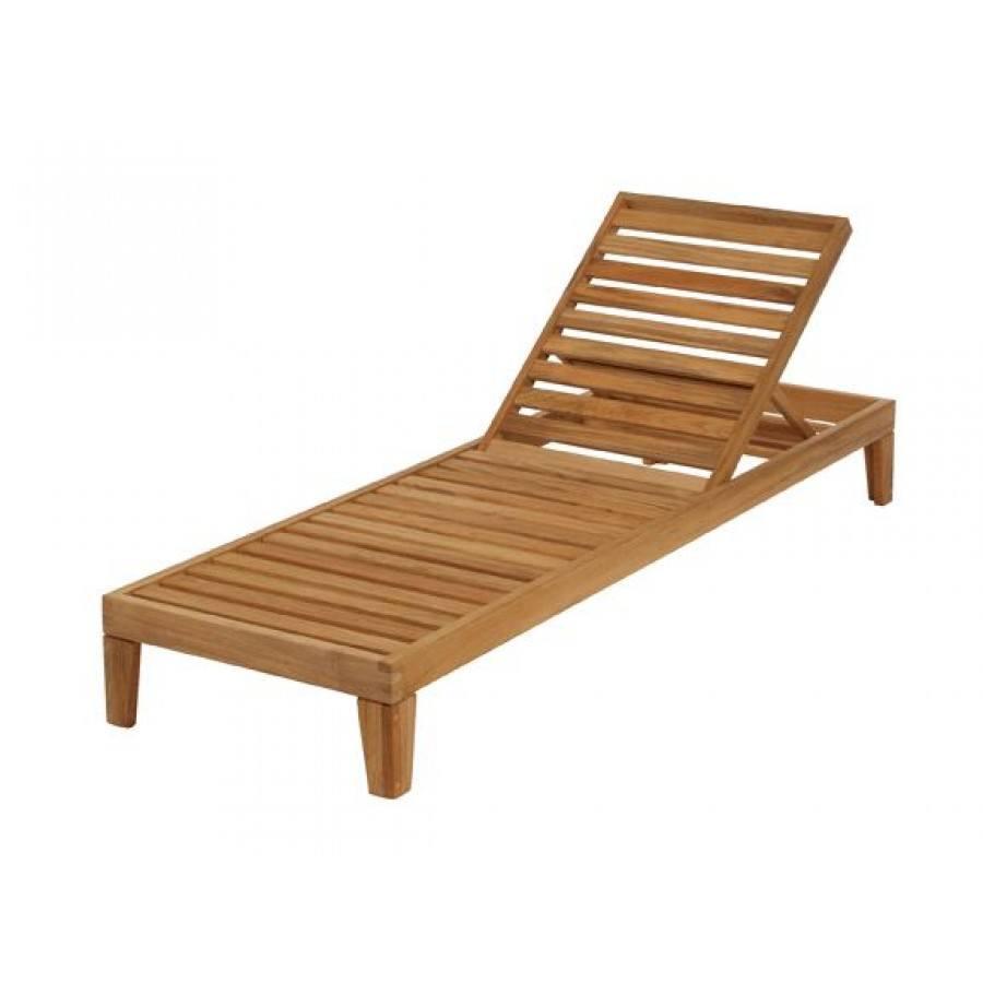 Barlow Tyrie Capri Teak Chaise Lounge  by Barlow Tyrie