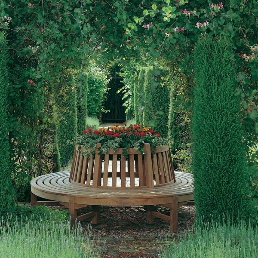 Barlow Tyrie Glenham Teak Circular Tree Seat (price per half)