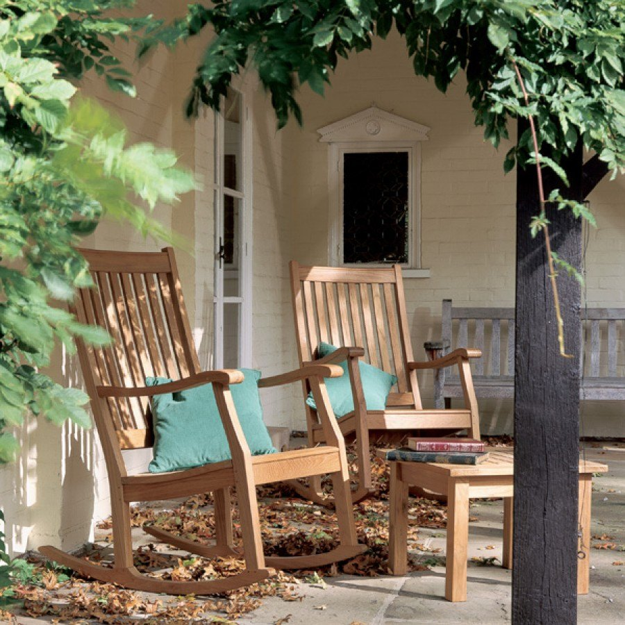 Barlow Tyrie Newport Teak Outdoor Rocking Chair