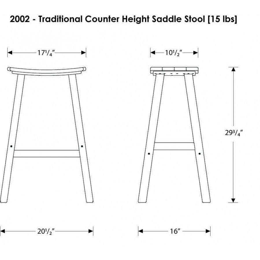 Polywood 174 Traditional 30 Saddle Barstool