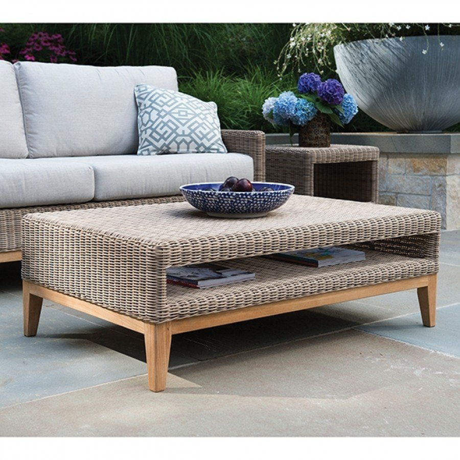 Merveilleux Kingsley Bate Frances Large Wicker Coffee Table With Glass By Kingsley Bate
