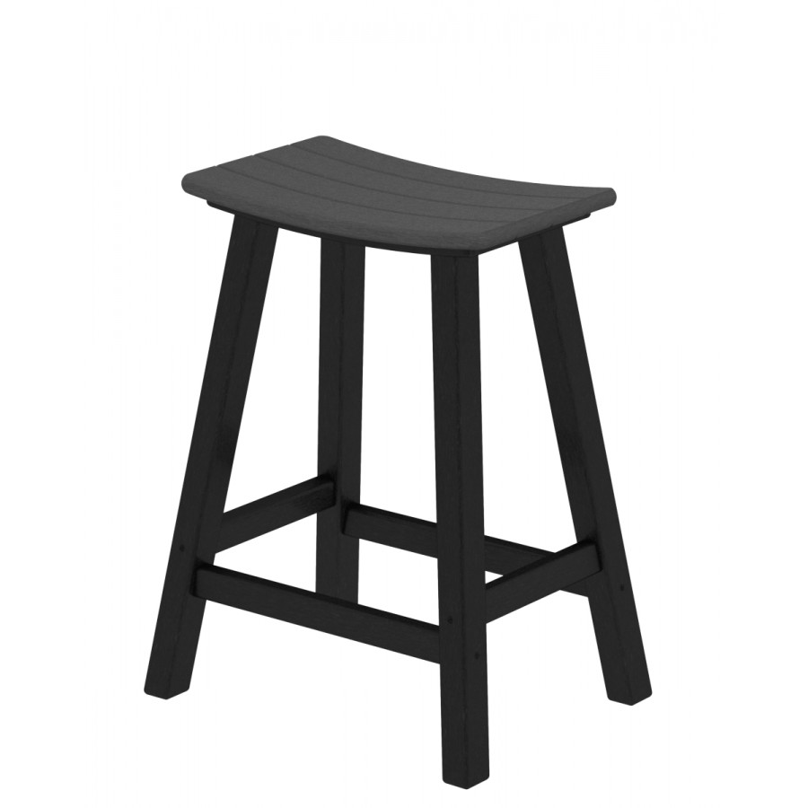 Polywood 174 Contempo 24 Saddle Barstool
