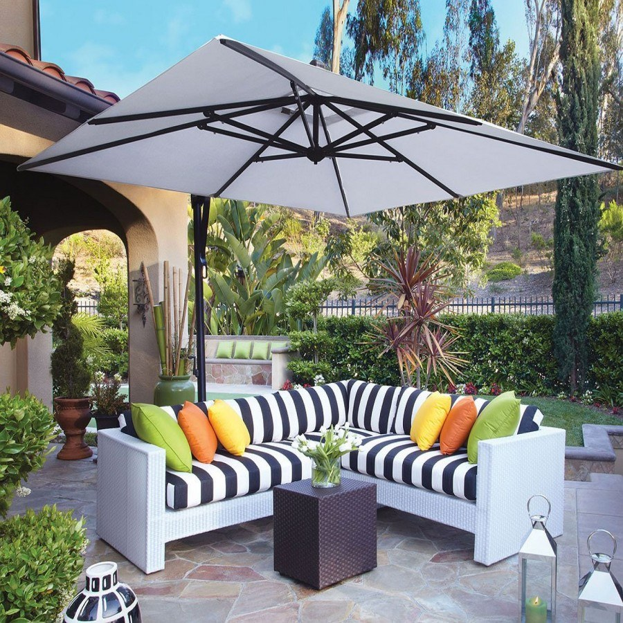 Bon Treasure Garden 10u0027 Square Cantilever Umbrella By Treasure Garden