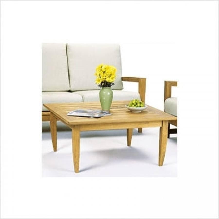 Kingsley Bate Amalfi Teak 40 Square Coffee Table