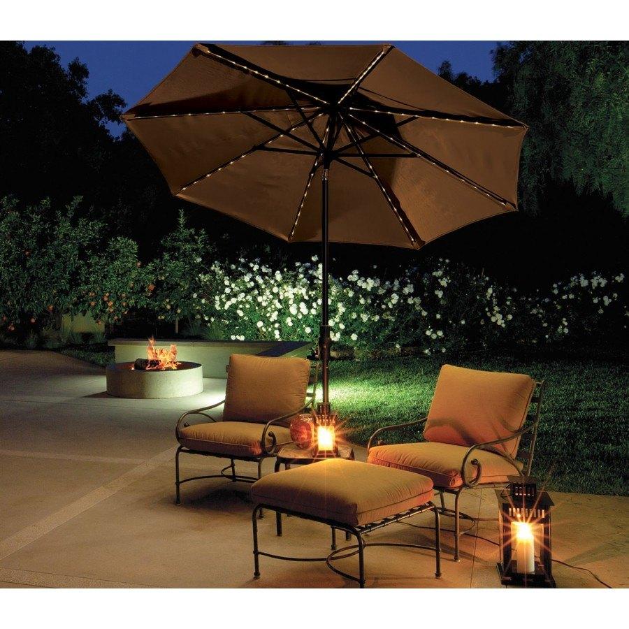 Treasure Garden 9\' Starlight Collar Tilt Market Umbrella