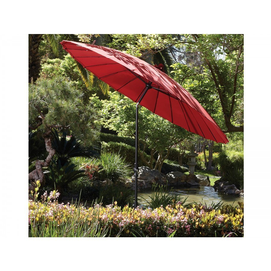Captivating Treasure Garden 10u0027 Shanghai Collar Tilt Umbrella By Treasure Garden