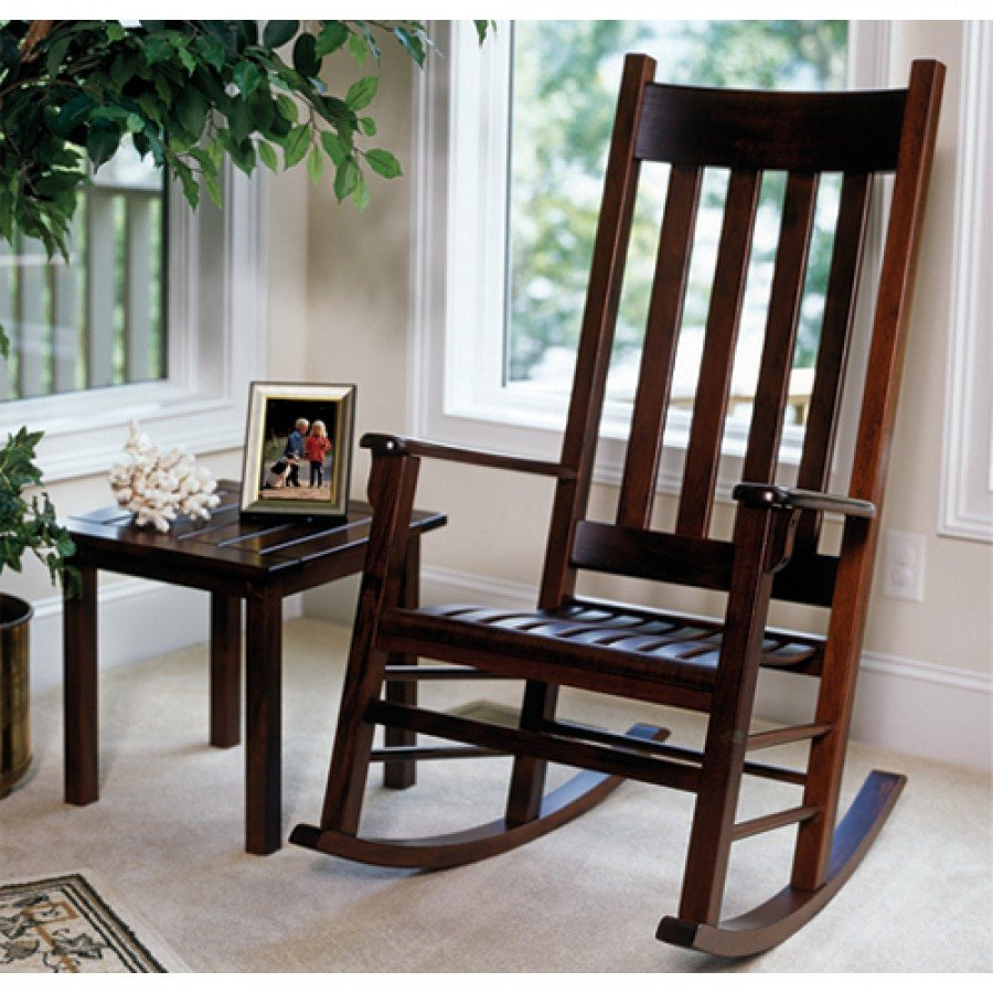 The Tyndall Creek Indoor Rocker Mahogany Finish