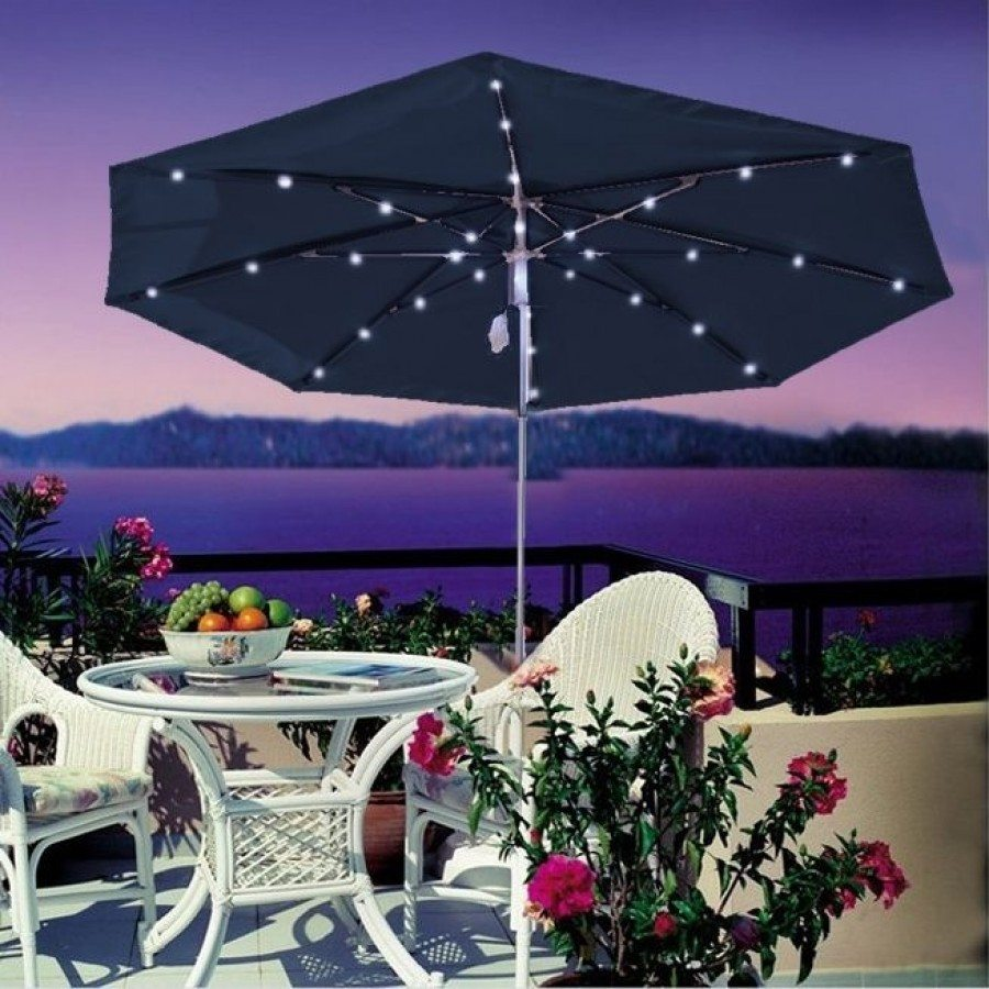 Luxe Shade™ Solar Illuminated 9u0027 Patio Umbrella By Luxe Shade™