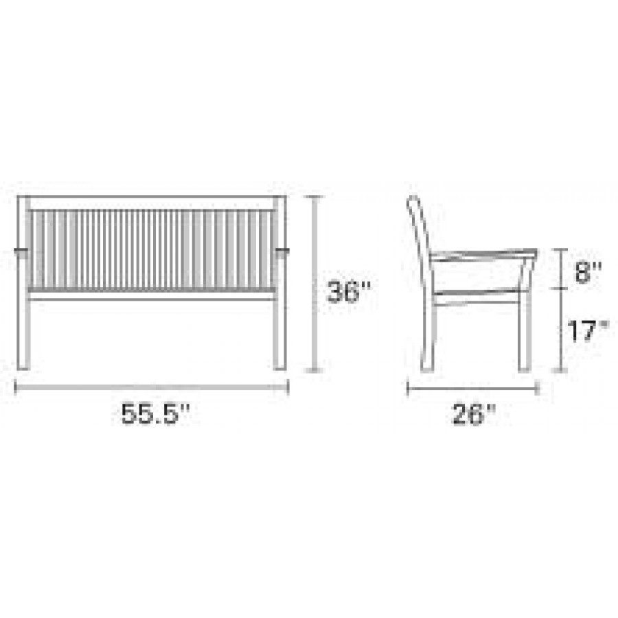 Kingsley-Bate-Chelsea-Teak-Bench-55-in-park-bench-dimensions