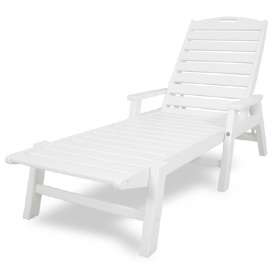 Polywood 174 Nautical Chaise Lounge W Arms No Wheels