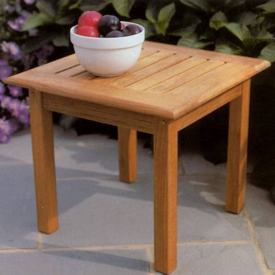Kingsley Bate Classic Teak 20 Square Side Table