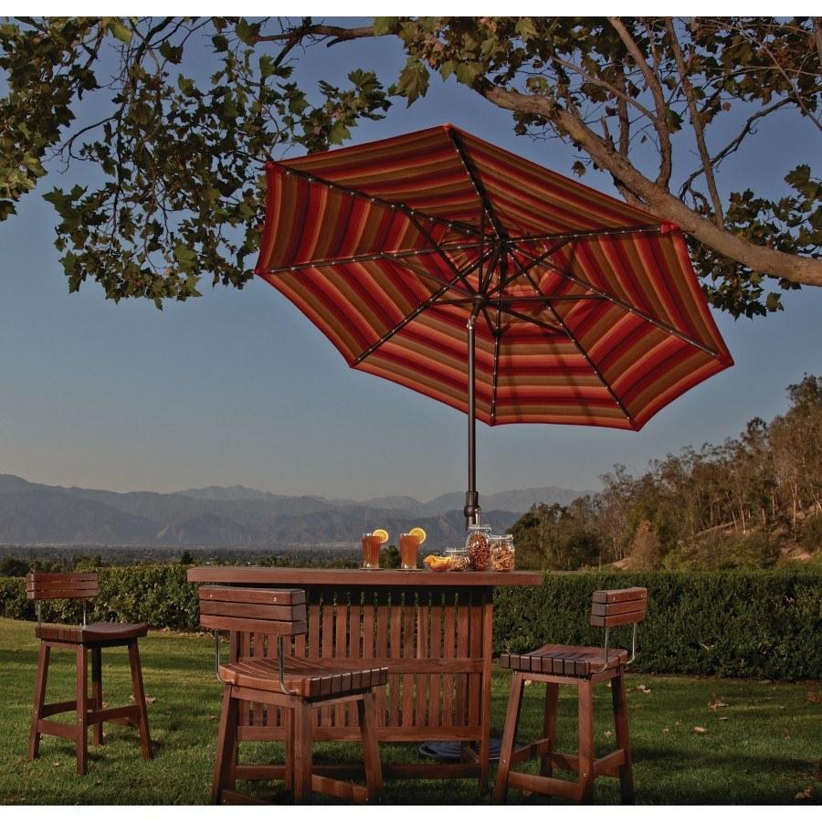 Treasure Garden 9u0027 Starlight Collar Tilt Market Umbrella By Treasure Garden
