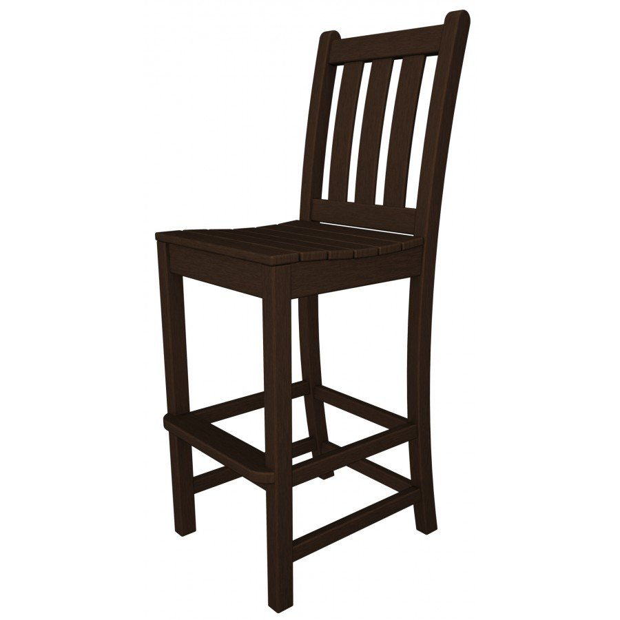 Polywood 174 Traditional Garden Bar Side Chair